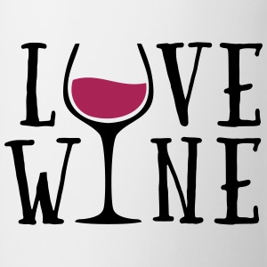 Love Wine Quote Gensere - Kopp