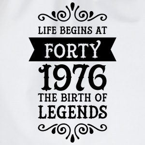 Life Begins at Forty - 1976 The Birth Of Legends Sports wear - Drawstring Bag