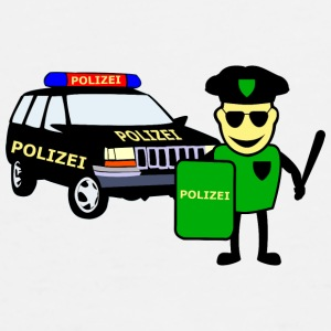 Police Officer & Police Car - Herre premium T-shirt