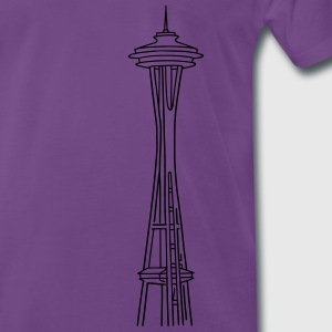 Space Needle a Seattle Felpe - Maglietta Premium da uomo