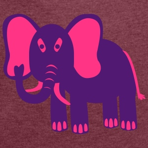 Elephant - Women's T-shirt with rolled up sleeves