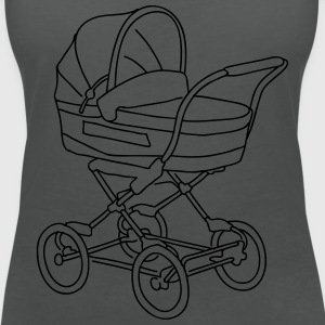 Baby stroller Tops - Women's V-Neck T-Shirt