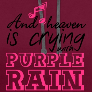 Heaven is crying - Prince Bags & Backpacks - Contrast Colour Hoodie