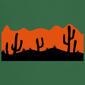 desert evening night sunset sunrise kakten cactus  T-Shirts - Cooking Apron