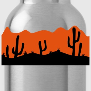 desert evening night sunset sunrise kakten cactus  T-Shirts - Water Bottle