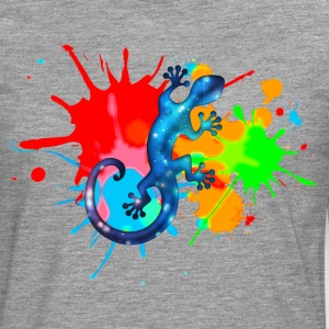 Space Gecko, Lizard, Color, Splash, Festival Tee shirts - T-shirt manches longues Premium Homme