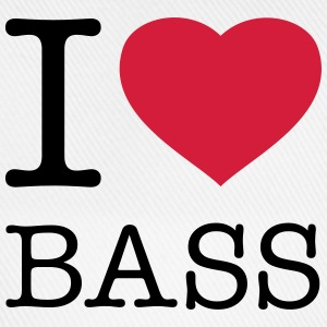 I LOVE BASS Buttons & badges - Baseballkasket