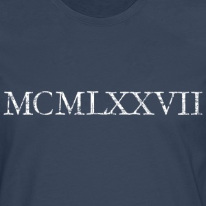 MCMLXXVII 1977 Roman birthday year T-Shirts - Men's Premium Longsleeve Shirt