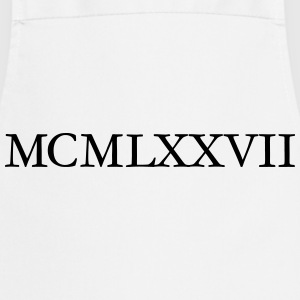 MCMLXXVII 1977 Roman Birthday Year T-Shirts - Cooking Apron