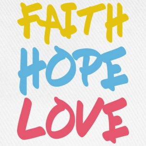 FAITH HOPE LOVE Langarmshirts - Baseballkappe