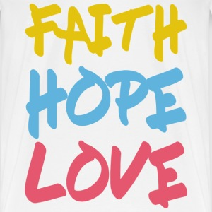 FAITH HOPE LOVE Langarmshirts - Männer Premium T-Shirt