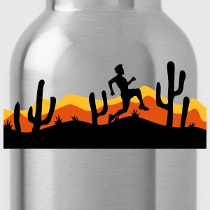 race out jogging relay race sport desert evening n T-Shirts - Water Bottle