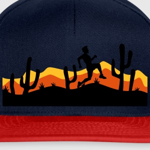 race out jogging relay race sport desert evening n T-Shirts - Snapback Cap