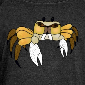Yellow crab t-shirt for men - Women's Boat Neck Long Sleeve Top