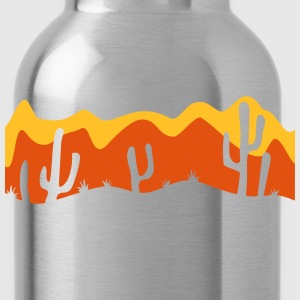 pattern desert evening night sunset sunrise kakten T-Shirts - Water Bottle