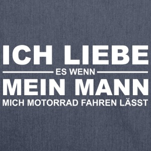 Ich leibe es - Motorrad T-Shirts - Schultertasche aus Recycling-Material