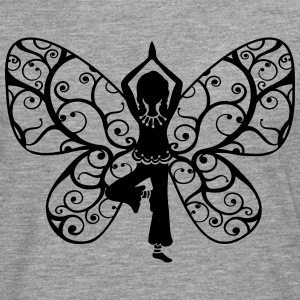 Yoga girl, butterfly wings, fairy, asana, teacher Tops - Men's Premium Longsleeve Shirt