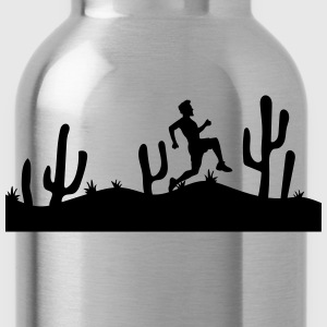 landscape pattern desert evening night sunset sunr T-Shirts - Water Bottle