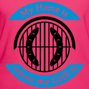 My Home is where my Grill is - Frauen Bio-T-Shirt
