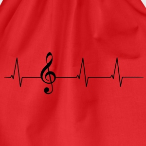 Heartbeat clef T-Shirts - Drawstring Bag