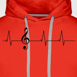 Heartbeat clef T-Shirts - Men's Premium Hoodie