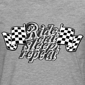 Ride eat sleep repeat Boy - Männer Premium Langarmshirt