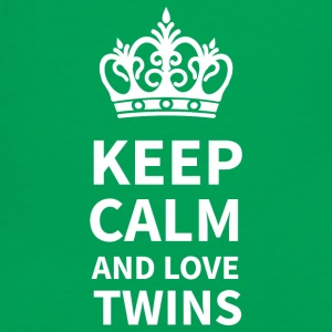 KEEP CALM AND LOVE TWINS - Männer Kontrast-T-Shirt