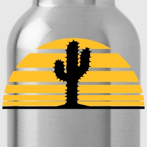 cactus, desert sunset strip lines sunrises T-Shirts - Water Bottle