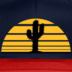 cactus, desert sunset strip lines sunrises T-Shirts - Snapback Cap