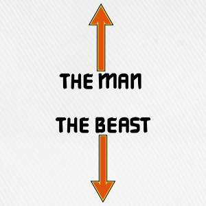 the man the beast T-shirts - Basebollkeps