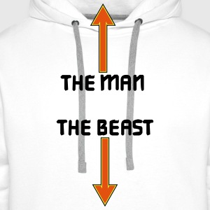 the man the beast T-shirts - Mannen Premium hoodie