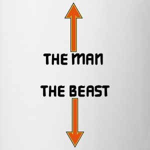the man the beast T-shirts - Mugg
