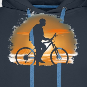 Bicycle trip Tee shirts - Sweat-shirt à capuche Premium pour hommes