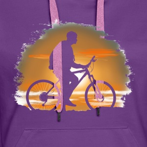 Bicycle trip T-shirts - Premiumluvtröja dam