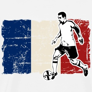 Soccer - Fußball - France Flag Manches longues - T-shirt Premium Homme