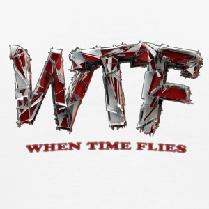 WTF (when time flies) - Cup - white - Men's Premium T-Shirt