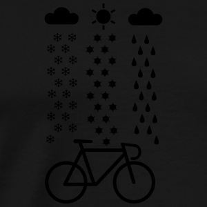 All Seasons Cyclist Sportkläder - Premium-T-shirt herr