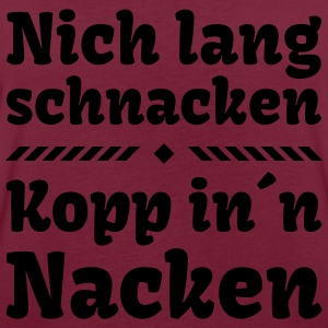 nich lang schnacken Kopp in Nacken Party Feier Pullover & Hoodies - Frauen Oversize T-Shirt