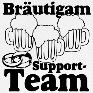 Bräutigam Support Team Buttons & Anstecker - Baseballkappe