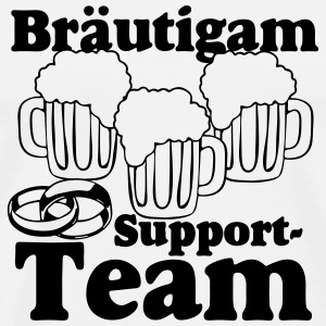 Bräutigam Support Team Buttons & Anstecker - Männer Premium T-Shirt