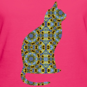 Cat Kaleidoscope Design 7 Hoodies & Sweatshirts - Women's Organic T-shirt