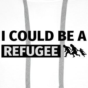 I could be a refugee Bags & Backpacks - Men's Premium Hoodie