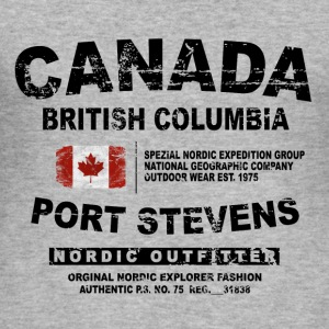 Canada - British Columbia - Canadian Vintage Flag Pullover & Hoodies - Männer Slim Fit T-Shirt