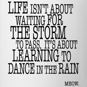 Life is about Dancing in the Rain T-Shirts - Mug