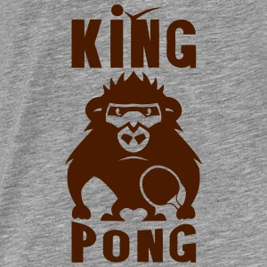 gorille king pong raquette ping Sweat-shirts - T-shirt Premium Homme