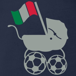Football landau flag soccer Shirts - Organic Short-sleeved Baby Bodysuit