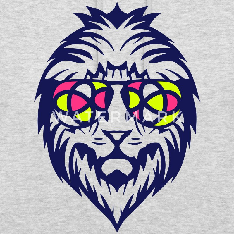 lion lunette soleil 2704 Sweat-shirts - Sweat-shirt à capuche unisexe