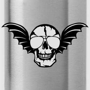 Wing bald skull bat 0 Hoodies & Sweatshirts - Water Bottle