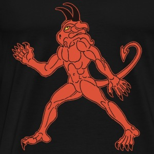 The Red Body, the Yellow Eye and Black Horns. - Men's Premium T-Shirt