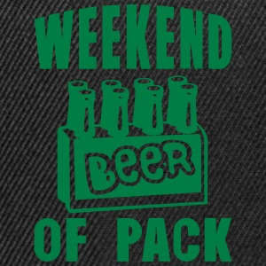 weekend of pack beer alcool Tee shirts - Casquette snapback